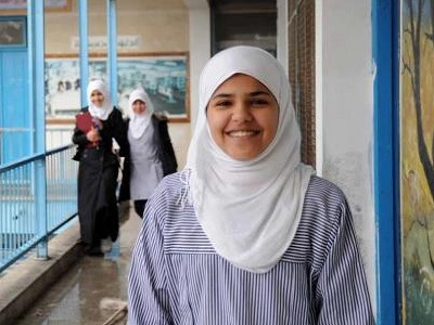 Areej El Madhoun, a student at UNRWA's school in Jabalia camp. (Photo: via UNRWA)