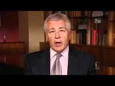 'Hagel is violently attacked by all the neocon warmongers.'