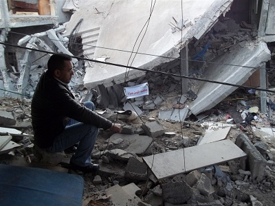 Ashraf hopes rebuilding work can start soon. (Photo: IRIN)