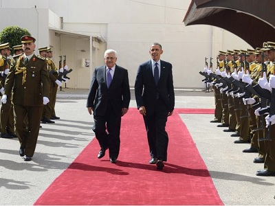 Barack Obama and Mahmoud Abbas in Ramallah. (Photo: WAFA)