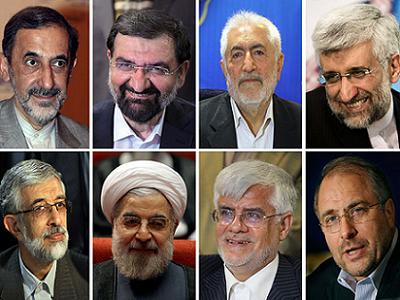 Iran: Eight men remain on the ballot for the first round on June 14. (Photo: Via Aljazeera)