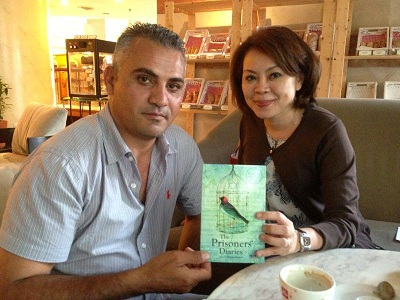 Norma Hashim of VPM with Palestinian filmmaker Imad Burnat. (Photo: Supplied)