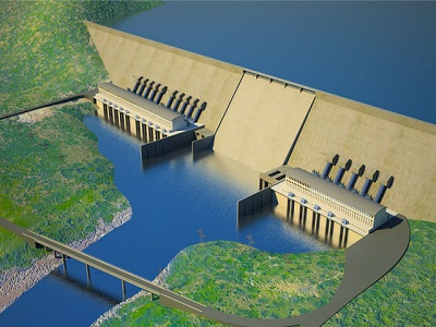 An illustration for the Renaissance dam.